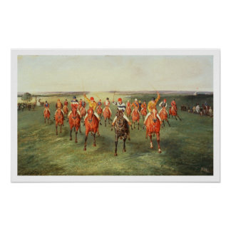 The Finish of the Two Thousand Guineas at Newmarke Poster