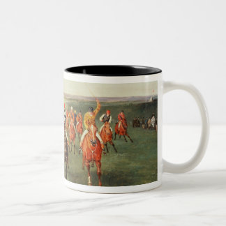 The Finish of the Two Thousand Guineas at Newmarke Two-Tone Mug