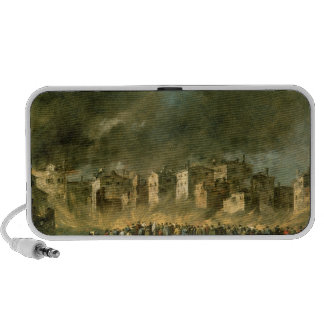 The Fire at San Marcuola (oil on canvas) Portable Speakers