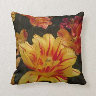 The fire colour flower cushion