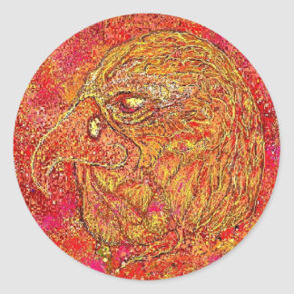 The Fire Eagle Classic Round Sticker