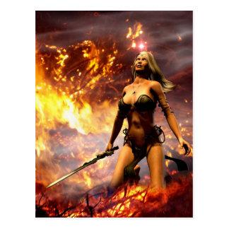 the fire goddess postcard