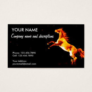 The Fire Horse Business Card