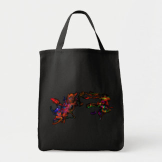 The Fire Horse Vs The Rainbow Dragon Tote Bags