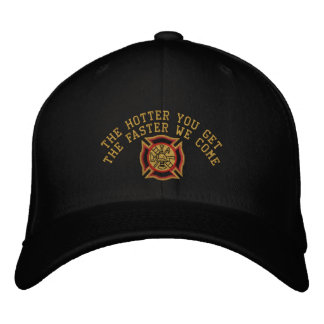 The Firefighter Custom Humorous Embroidery Embroidered Hat
