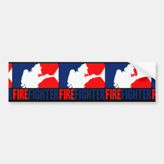 The Firefighter Headliner in Tri-colors Bumper Sticker