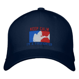 The Firefighter Keep Calm Custom Embroidery Embroidered Baseball Cap