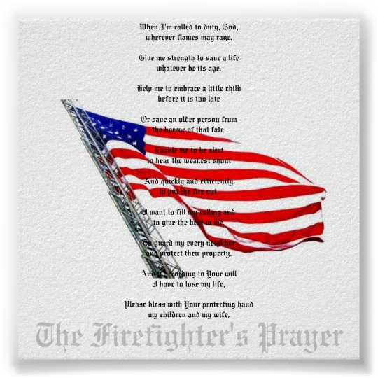 The Firefighter's Prayer Poster