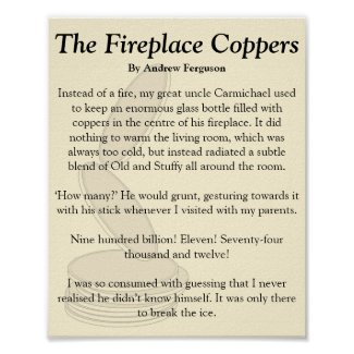 The Fireplace Coppers Poster
