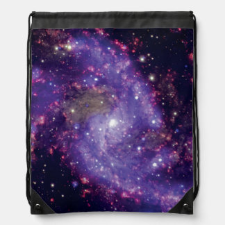 The Fireworks Galaxy Outer Space Photo Drawstring Bag