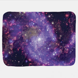 The Fireworks Galaxy Outer Space Photo Pram blanket