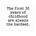 The First 30 Years Of Childhood