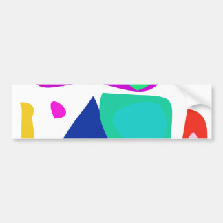 The First Abstract Bumper Stickers