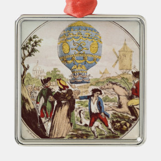 The First Aerial Voyage by Monsieur Francois Christmas Ornament