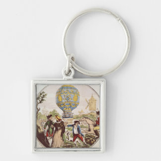 The First Aerial Voyage by Monsieur Francois Key Ring
