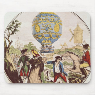 The First Aerial Voyage by Monsieur Francois Mouse Mat