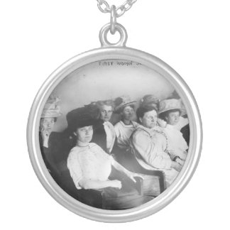 The First All Woman Jury in Las Angeles from 1911 Silver Plated Necklace