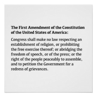 The First Amendment of the Constitution
