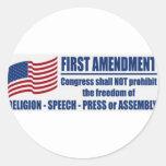The First Amendment Sticker