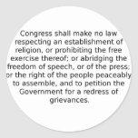 The First Amendment Stickers