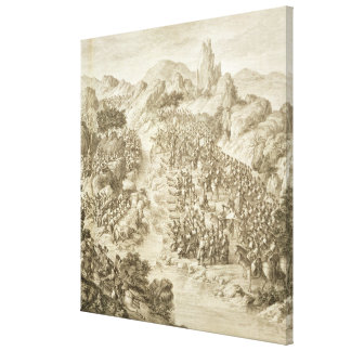 The First Battle between the Chinese Army and that Canvas Print