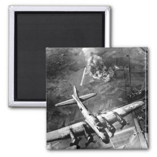 """The first big raid by the 8th Air Force_War Image Square Magnet"