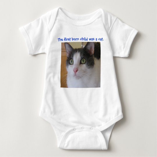 The first born child was a cat baby