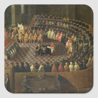 The First Chapter of the 25th Council of Trent, Ve Square Sticker