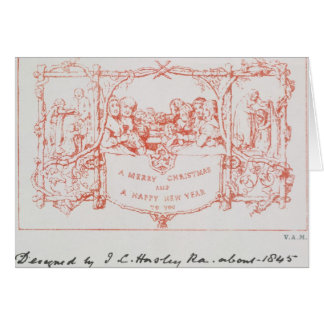 The first Christmas card, by J.C.Horsley, 1843 Card