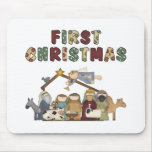 The First Christmas Nativity Scene Mousepads