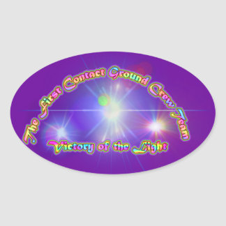 The First Contact Ground Crew Team Oval Sticker