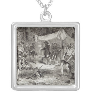 The First Day at Jamestown Silver Plated Necklace