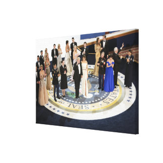 The First Family At The Liberty Ball Canvas Print
