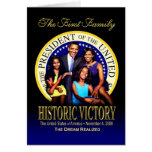 The First Family - Historic Victory Greeting Card