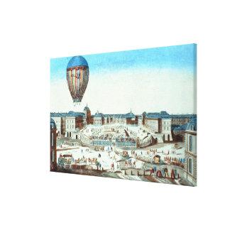 The first flight of Pilatre du Rozier's hot-air ba Canvas Print