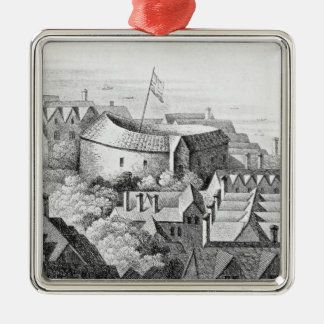 The First Globe Theatre or Rose Theatre Christmas Ornament