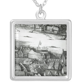 The First Globe Theatre or Rose Theatre Silver Plated Necklace