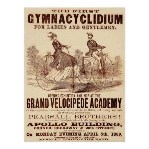 The First Gymnacyclidium (1869). Poster