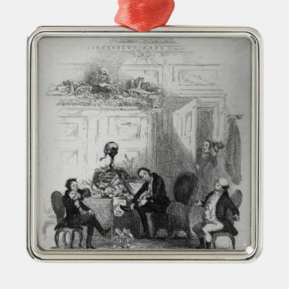 The First Interview with Mr. Serjeant Snubbin Silver-Colored Square Decoration