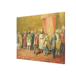 The First Investiture of the Star of India, 1863 ( Canvas Print