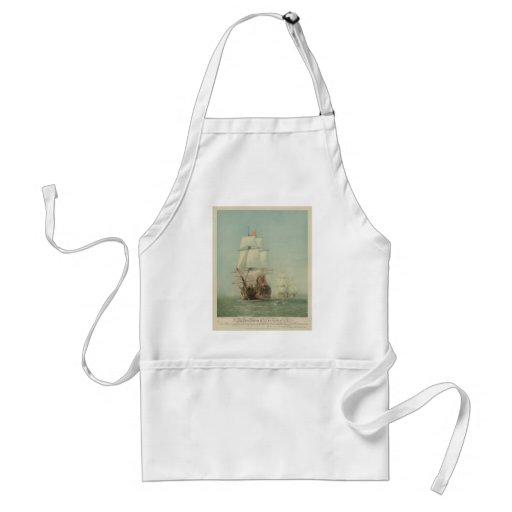 The First Journey of the H.M.S. Victory in 1778 Aprons