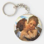 the First kiss  cherubs, SHEILA Key Chain