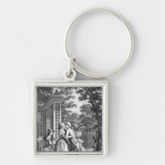 The First Kiss of Love Key Ring