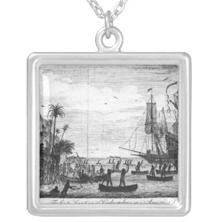 The First Landing of Columbus at America Silver Plated Necklace