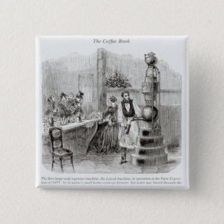 The first large-scale espresso machine 15 cm square badge