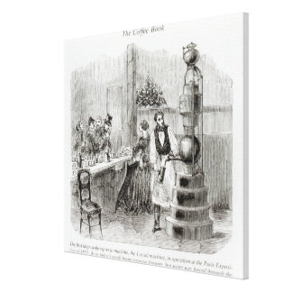 The first large-scale espresso machine canvas print