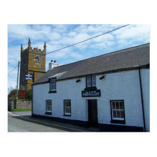 The First & Last Pub in England, Sennen, Cornwall. Postcard