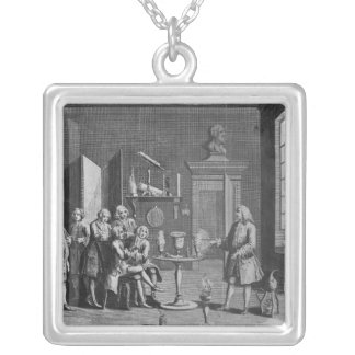 The First Lecture in Experimental Philosophy Silver Plated Necklace