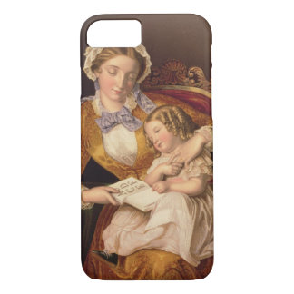 The First Lesson, pub. by Baxter, 1855 () iPhone 8/7 Case