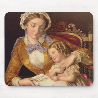 The First Lesson, pub. by Baxter, 1855 (print) Mouse Pad